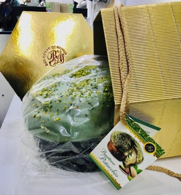 panettone al pistacchio artigianale Dolcezze di Rumia