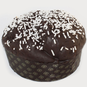 Panettone Artigianale con Gocce di Cioccolato e zucchero