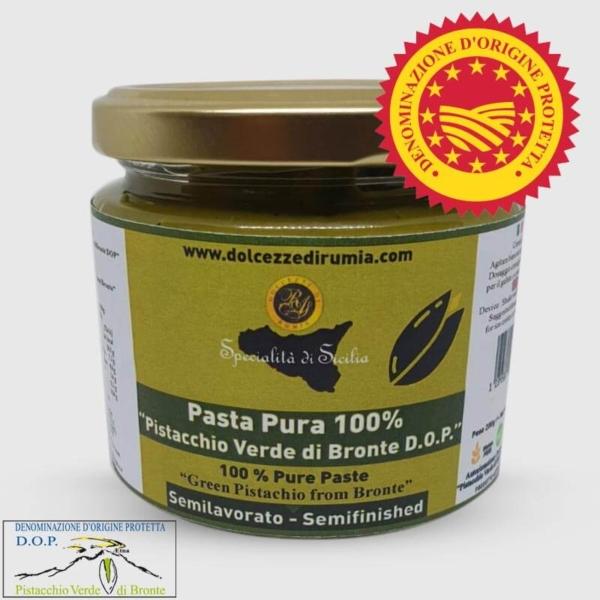 """Pasta pura 100% di """"Pistacchio Verdi di Bronte D.O.P."""" Dolcezze di Rumia"""